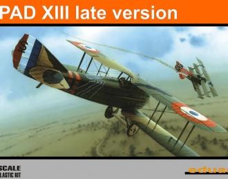 Сборная модель Самолет Spad XIII поздняя версия (ProfiPack)