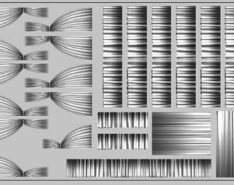 Набор декалей Шторки для Ikarus (200х70), серые