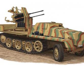 Сборная модель Зенитная установка sWS w/2cm Flakviering 38