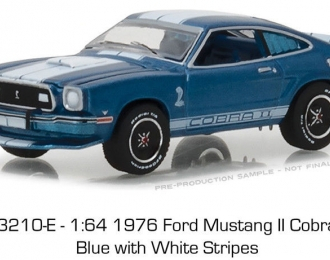 FORD Mustang Cobra II 1976 Blue with White Stripes