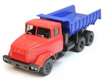 КРАЗ 6510 самосвал, синий / красный