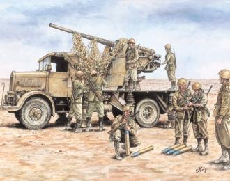 Сборная модель Зенитное орудие AUTOCANNONE 3RO with 90/53 AA GUN