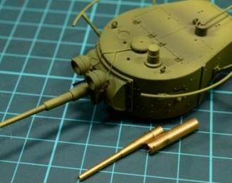 Точеный ствол 45-мм танковой пушки для БТ-5, БТ-7, Т-26, Т-35, Т-50, БА-10, БА-6