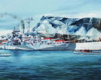 Сборная модель German Tirpitz Battleship