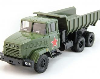 КРАЗ 6510 самосвал, темно-зеленый