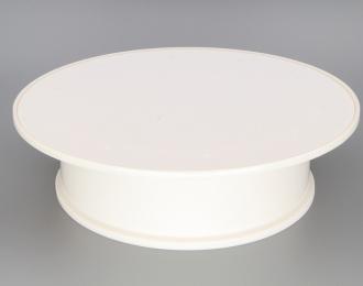 Подиум круглый вращающийся (корпус белый / поверхность белая матовая)
