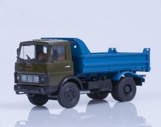 МАЗ 5551 самосвал ранняя кабина (1988), хаки-синий
