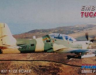 Сборная модель Бразильский учебно-боевой самолет Embraer EMB 312 Tucano