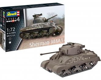 Сборная модель Американский средний танк Sherman M4A1