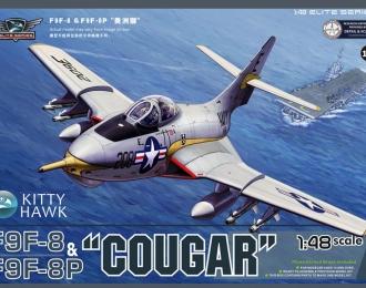 Сборная модель Американский истребитель-перехватчик F9F-8 / F9F-8P Cougar