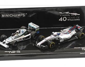 2-CAR SET - WILLIAMS FORD FW06 JONES 1978/WILLIAMS FW40 MASSA 2017 - WILLIAMS F1 40TH ANNIVERSARY