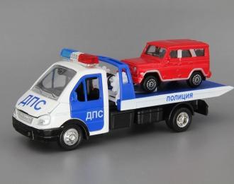 Горький 3302 Эвакуатор Полиция ДПС, синий / белый / красный
