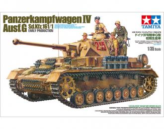 Сборная модель Немецкий танк GERMAN TANK PANZER IV AUSF.G Sd.Kfz 161/1 с четырьмя фигурами
