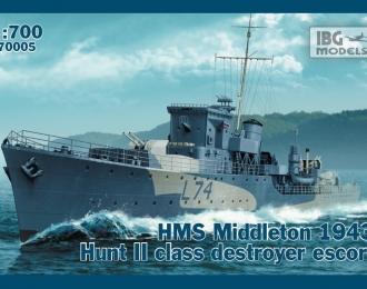 Сборная модель Британский эсминец HMS Middleton 1943г.