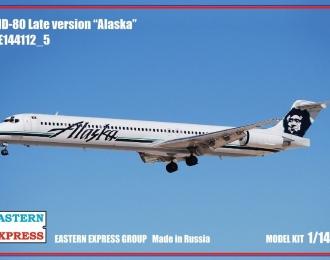 Сборная модель Авиалайнер MD-80 поздний Alaska (Limited Edision)