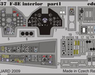 Цветное Фототравление для F-8E interior S.A.