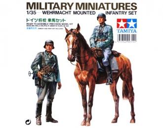 Сборная модель немецкие кавалерист и пехотинец