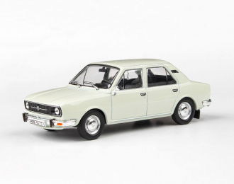 Škoda 105L - 1977 Bílá Ledová 1:43 - Abrex časopis