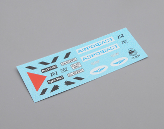 Набор декалей ЛуАЗ 2403 Аэрофлот, 94х22