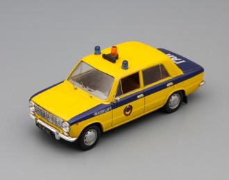 (Конверсия!) Волжский автомобиль 2101 Милиция, Автомобиль на службе 18, желтый