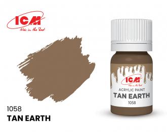 Краска для творчества, 12 мл, цвет Жёлто-коричневая глина(Tan Earth)