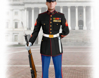 Сборная модель Фигура, Сержант морской пехоты США
