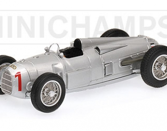 AUTO UNION TYP A 1 Hans Stuck WINNER German GP 1934, silver