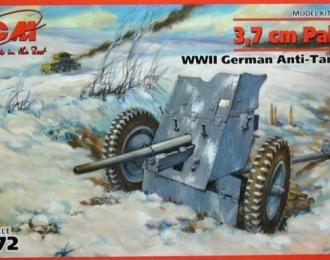Сборная модель Немецкое противотанковое орудие 3,7 cm Pak 36 WWII