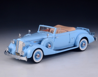 PACKARD Twelve 1407 Bohman & Schwartz Convertible Coupe 1936 Light Blue
