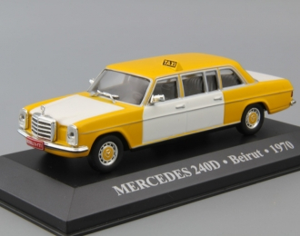 MERCEDES-BENZ 240 D Beirut (1970), yellow / white
