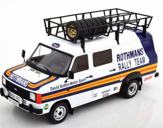 "FORD Transit MKII техничка ""Rothmans Rally Team"" с багажником и колесами на крыше 1980"