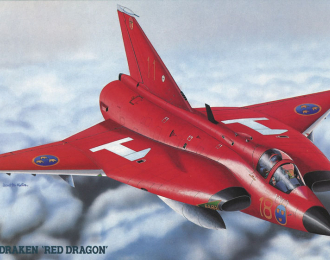 """Сборная модель Cамолет J-35F Draken """"Red Dragon"""""""