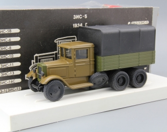 ЗИС 6 с тентом фургон, болотный / зеленый / черный