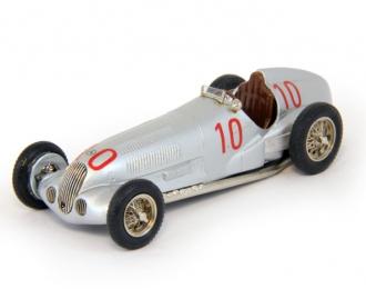 MERCEDES-BENZ W125 GP Monoposto #10 Von Brauchitsch Winner Monaco GP (1937), silver