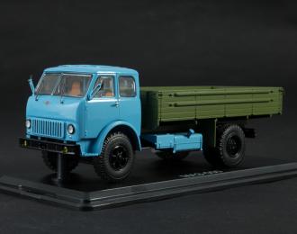 МАЗ-500 бортовой, голубой / зеленый