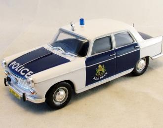 PEUGEOT 404 Британская полиция Южной Африки, Полицейские Машины Мира 47, белый с синим