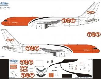Декаль на самолет боенг 757-200F (TNT)
