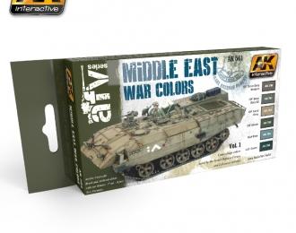 Смеси для нанесения эффектов MIDDLE EAST WAR COLORS VOL. 1 (войнана Ближнем востоке, первый набор)