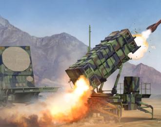 """Сборная модель ЗРК """"Патриот"""" пусковая установка и радар"""