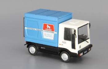 Волжский автомобиль 2802 Пони фургон, Автолегенды СССР 140, белый / синий