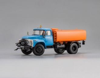 КО-002 Автомобиль Поливомоечный - 1990 г. Новосибирск, голубой / оранжевый