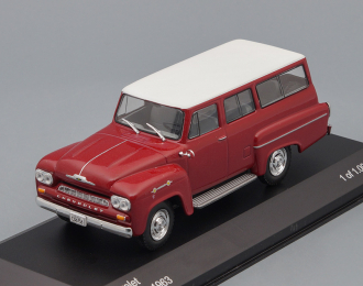 CHEVROLET Amazona 4х4 (1963), dark red / white