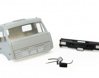 Дневная кабина для КАМАЗ (Евро-2, пластиковый бампер), серый