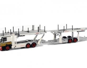 MERCEDES-BENZ Actros Cartransporter (3 + 2 axle) Koopman, Premium Line 1:50, желтый