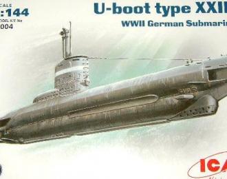 Сборная модель Германская подводная лодка, тип XXIII