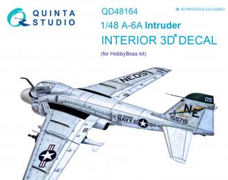 3D Декаль интерьера кабины A-6A Intruder (для модели HobbyBoss)