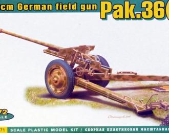 Сборная модель Немецкое 7,62 сm противотанковое орудие Pak.36 (R)