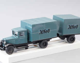 ЗИС-5 Фургон с прицепом Хлеб, синий