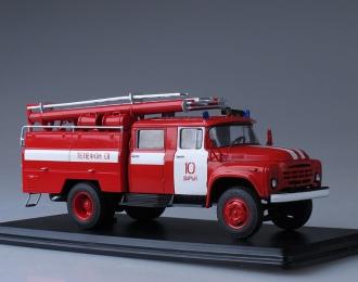 АЦ-40 (на шасси ЗИЛ-130) 63Б с надписями, красный