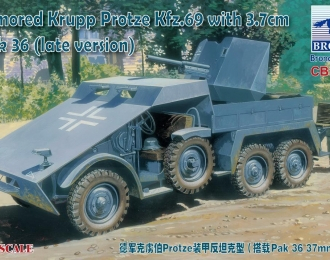 Сборная модель Armored Krupp Protze Kfz/69 with 3.7cm Pak. 36 (late version)